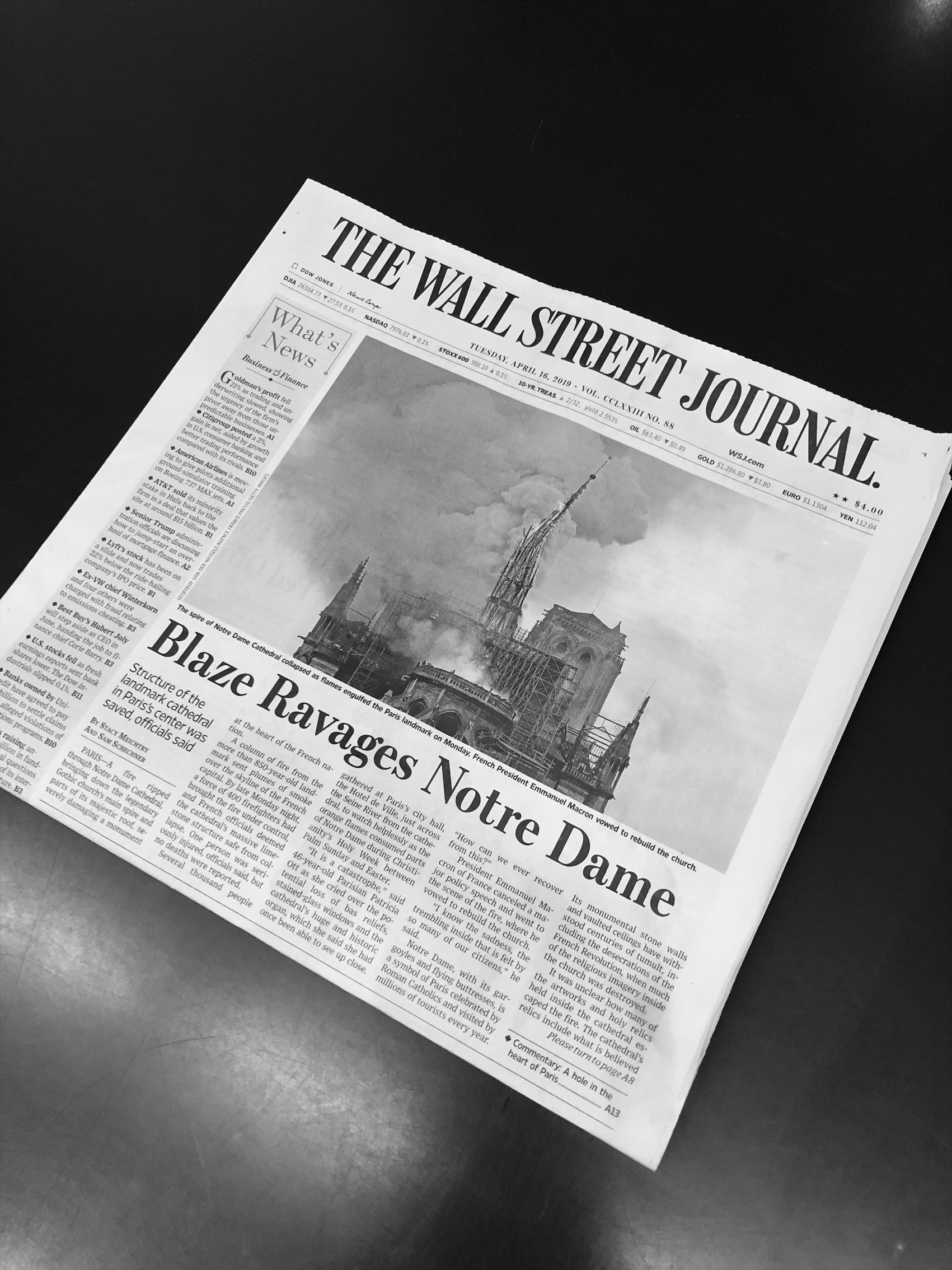 cover of the wsj