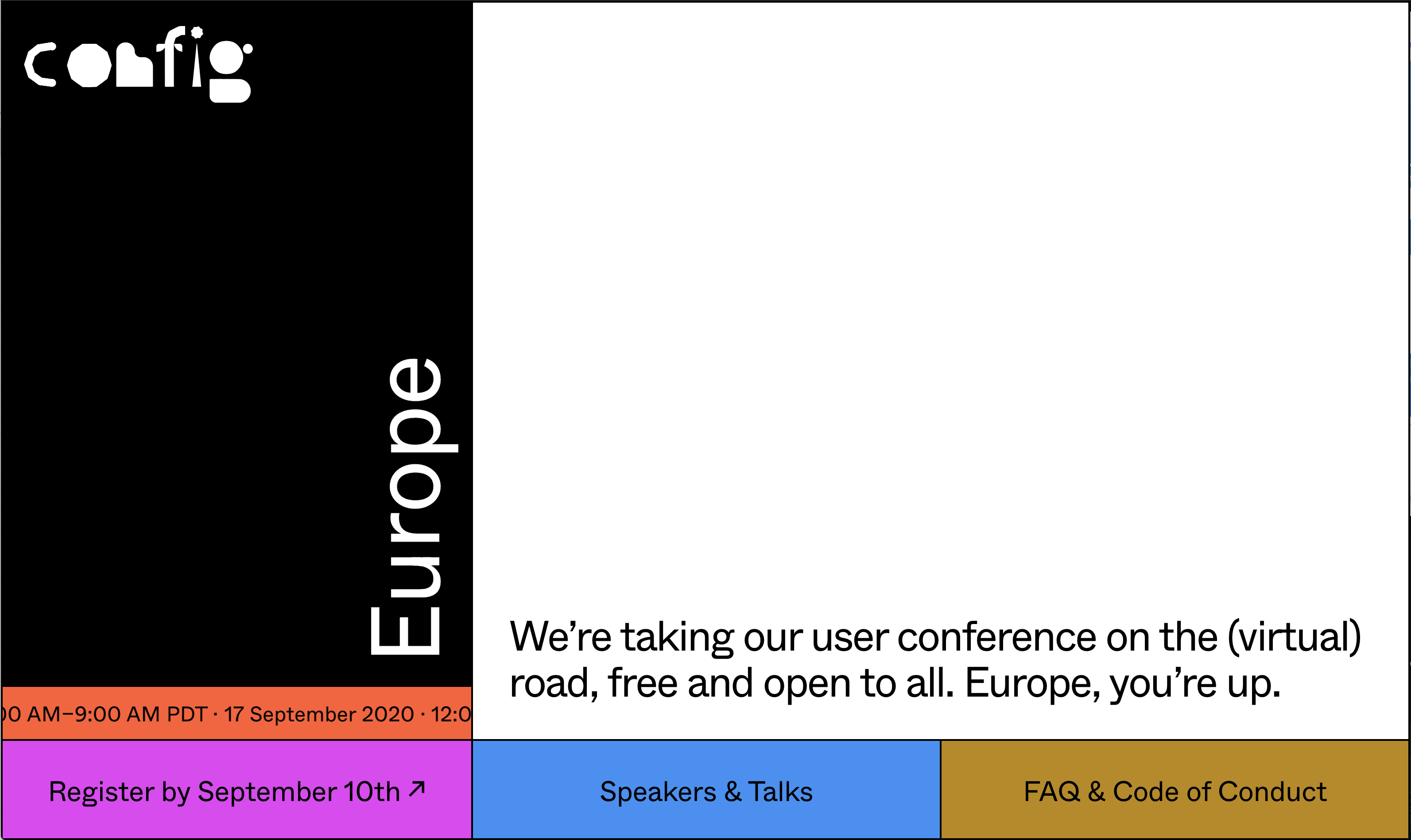 screenshot of Figma Config conference website